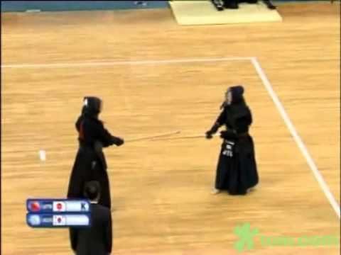 100904 Kendo, Special Individual Men Match 3 Jpn vs Kor