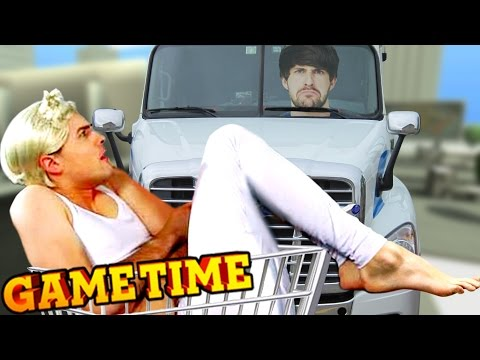 MILEY GETS PLOWED IN TURBO DISMOUNT (Gametime w/ Smosh Games)