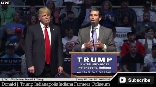 "Donald John ""Don"" Trump Jr Speaks at Donald Trump Rally Indiana Indianapolis Amazing Little Speech ✔"