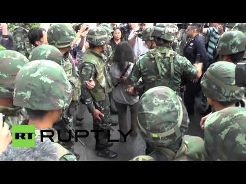 Thailand: Anti-coup protesters clash with Bangkok police