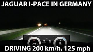 Driving I-Pace 200 km/h, 125 mph in Germany