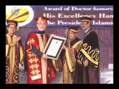 President Karzai Receives Honorary Doctorate from LPU of India