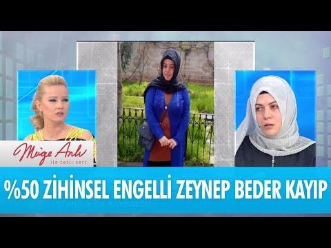 %50 zihinsel engelli Zeynep Beder İstanbul'da kayboldu - Müge Anlı İle Tatlı Sert 2 Ocak 2018