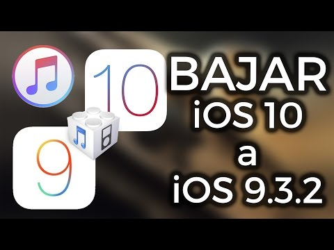 Bajar de iOS 10 a iOS 9.3.2 (Downgrade) iPhone, iPod & iPad ! ZIDACO
