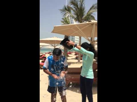 belated ice bucket challenge - burj al arab