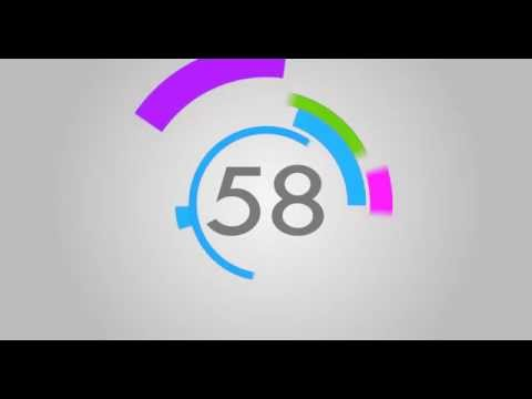 60 Seconds Countdown ( V 249 ) Circle Timer With Sound Effects And Voice Hd! video