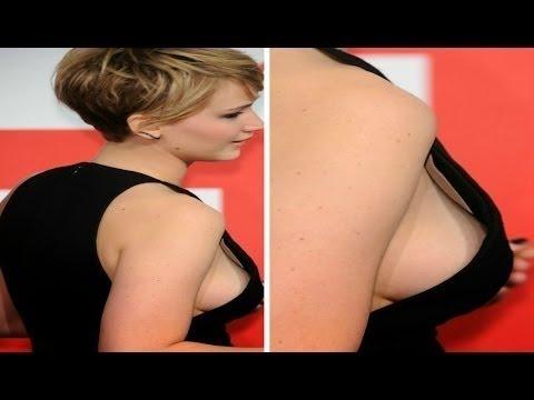 Jennifer Lawrence Hot Sideboob & Nipple Pokes
