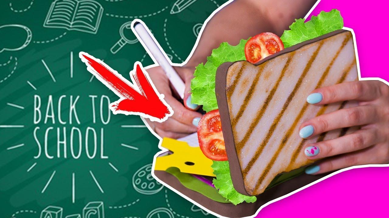 DIY Сквиши блокнот / МЕГА сэндвич / канцелярия СВОИМИ РУКАМИ / Back to school