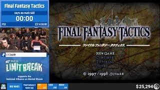 Final Fantasy Tactics (No Math Skill) by Claude (RPG Limit Break 2019 Part 11)