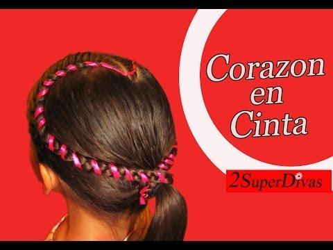 Peinados Infantiles en forma de Corazon, pajecita, Trenzas, quinceañera, tutorial, novias, prom.