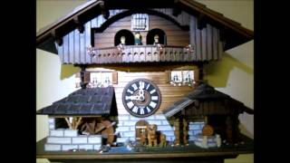Cuckoo Clock Black Forest Chalet With Dancers