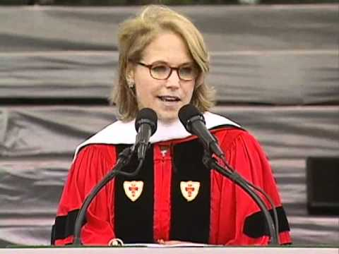 Katie Couric addresses the Class of 2011