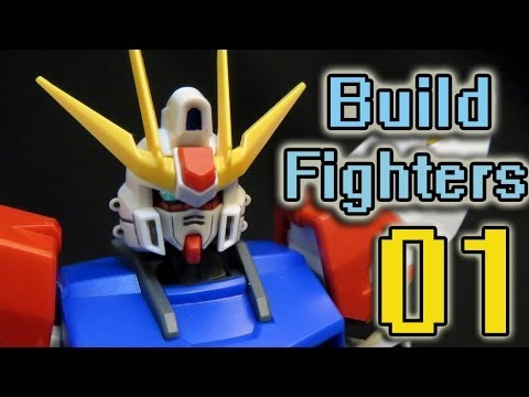 Gundam Build Fighters Episode 1 Review (Part 1) Newest Gundam anime series ガンダム