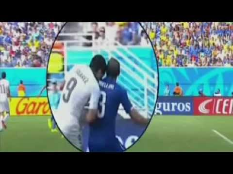 Luis Suarez on Chiellini bite You shouldn't make such a big deal Brazil World Cup 2014