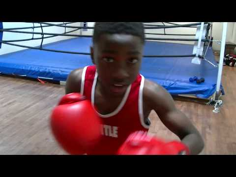 #1 Boxing Kid 11 year old boxer Training Jojo Awinongya Jr