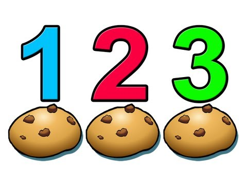 """Counting Cookies"" - Learn to Count Numbers 1234 Preschool Children"