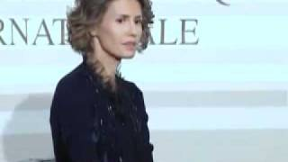 Syria's First Lady Asma Al Assad In Paris Part 2 - 2010(Inetrnational Diplomatic Academy)