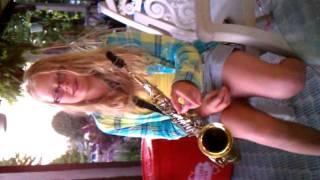 Nika play the sax