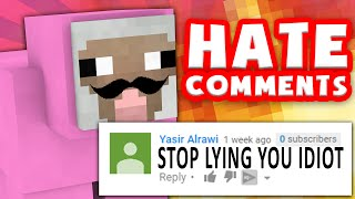 PINK SHEEP REACTS TO HATE COMMENTS #2!! | Minecraft