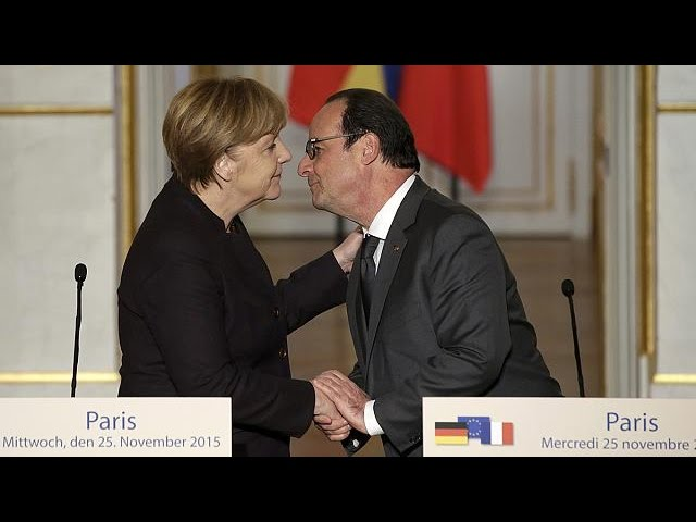 Hollande pede a Merkel maior envolvimento na luta contra Estado Islâmico