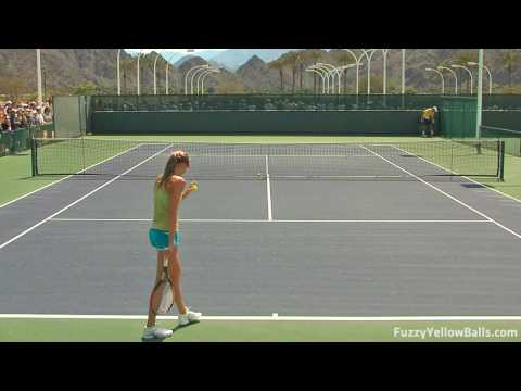 Daniela Hantuchova hitting in High Definition Video