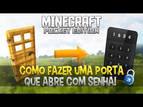 Como fazer uma PORTA QUE ABRE COM SENHA no Minecraft Pocket Edition