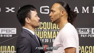 MANNY PACQUIAO AND KEITH THURMAN COME FACE TO FACE FOR THE FIRST TIME IN NEW YORK - FULL FACE OFF