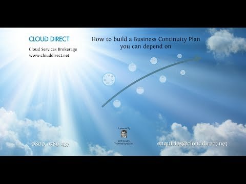 How to write your disaster recovery DR and business continuity BC plan Cloud Direct