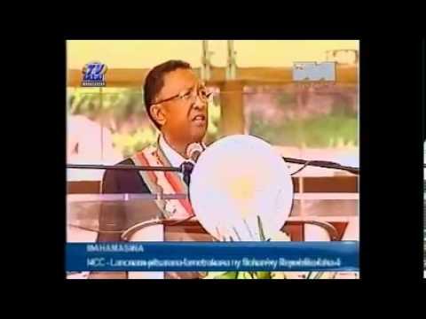 Discours du président malgache Rajaonarimampianina...ou presque