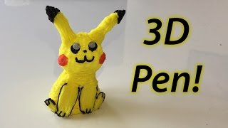 Pikachu 3D Pen Art!