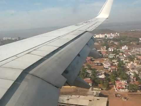 Jet Airways Landing at Dabolim, Goa Airport