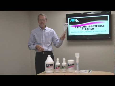 RX75 Antibacterial Cleaner & Odor Counteractant