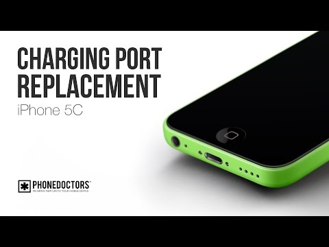 How to: iPhone 5C Charging Port (Microphone. Headset Jack) Assembly Replacement