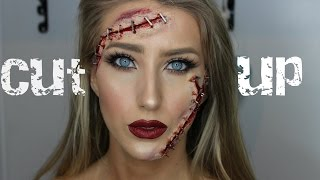 CUT UP STAPLE FACE! Easy SFX Halloween Tutorial