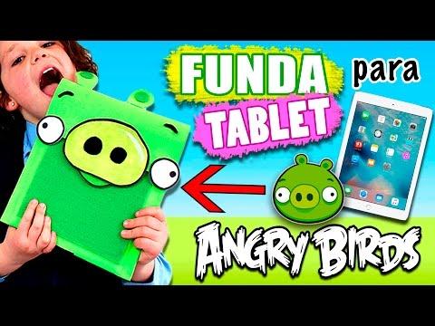 FUNDA Para TABLET Casera ANGRY BIRDS * Manualidades FACILES Para NIÑOS