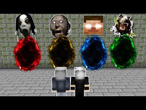 4 FARKLI KORKU PORTALI HANGİSİNİ SEÇİCEM! 😱 - Minecraft