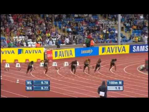 Asafa Powell 100m - 9.91 Diamond League Birmingham 2011 www.MIR-LA.com