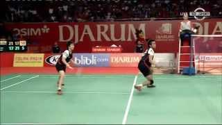 Amazing Mixed Doubles Badminton Rally