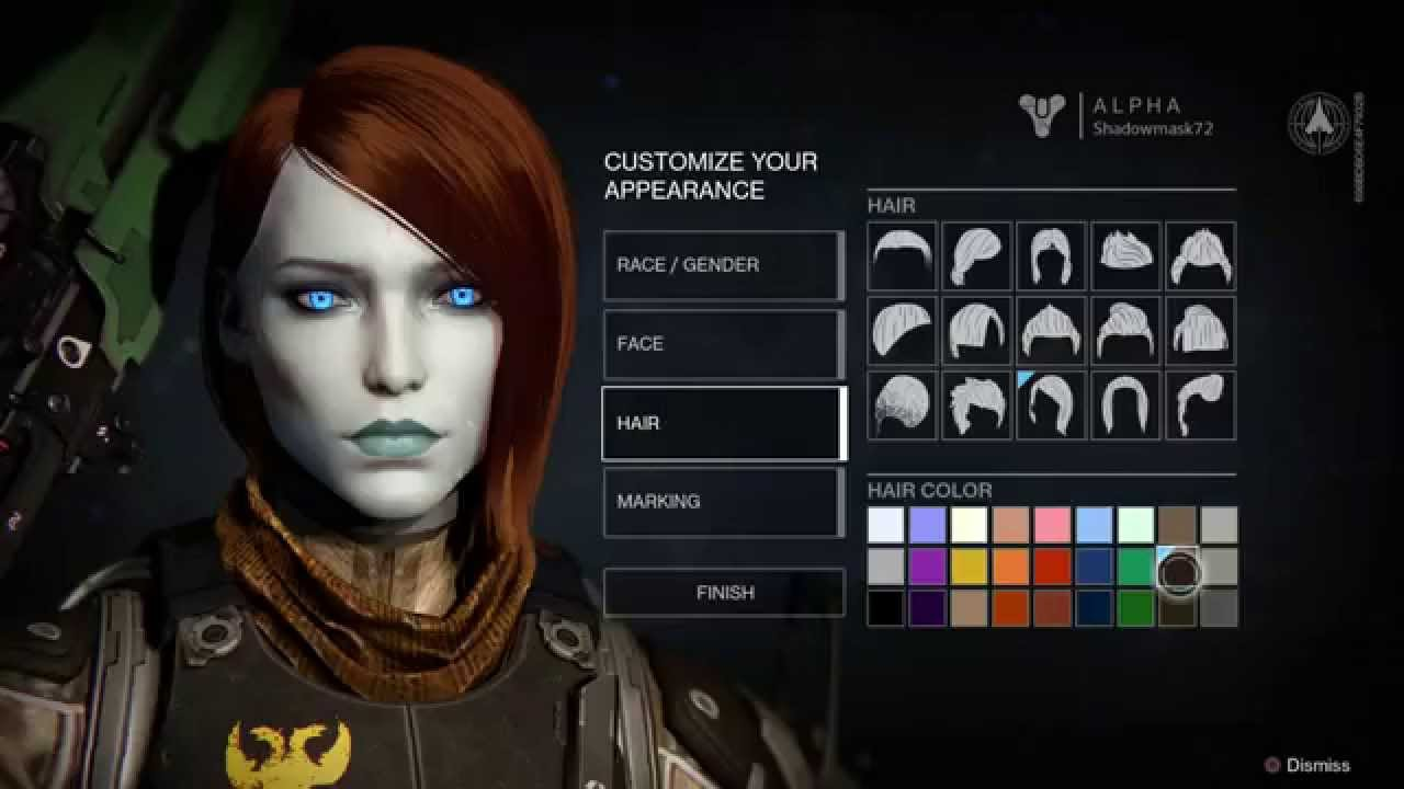 Destiny Character Creation options - YouTube
