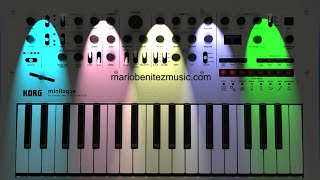 DRONE MUSIC / KORG MINILOGUE Analogue  Synthesizer /