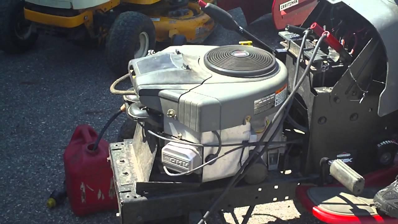 Briggs And Stratton Engine >> BRIGGS & STRATTON 25HP INTEK - YouTube