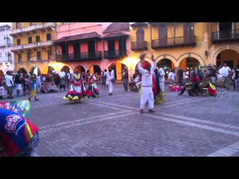 Traditional Dancing in Cartagena, Colombia - Cumbia