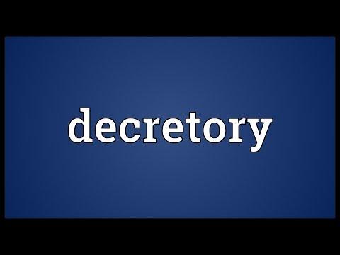 Header of decretory