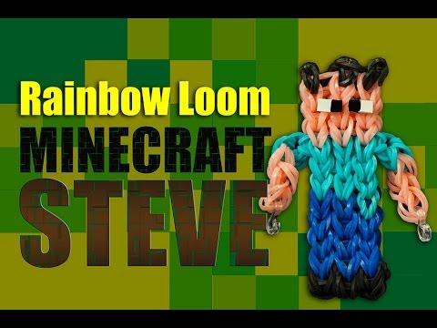 Minecraft Steve Rainbow Loom