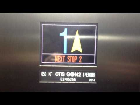 BRAND NEW Otis GEN2 MRL Traction Elevator at Troparёvo Metro Station in Moscow, Russia