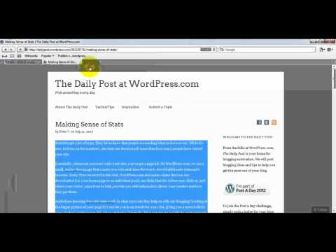How to use press this button in wordpress