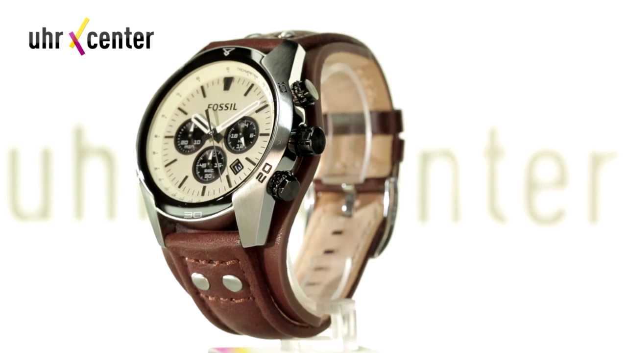 fossil ch2890 uhren coachman herren chronograph youtube. Black Bedroom Furniture Sets. Home Design Ideas