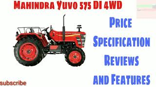 New Mahindra Yuvo 575 di 4wd Tractor Price Specifications 2019