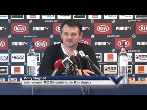 Point Presse - Willy Sagnol - Bordeaux vs St-Etienne