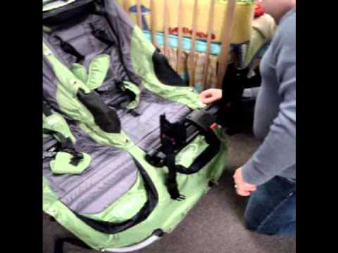 baby jogger city series double stroller with chicco car seat adapter youtube. Black Bedroom Furniture Sets. Home Design Ideas